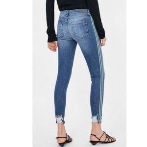 ZARA Skinny Ankle Jeans with Side Seam Stripe 8